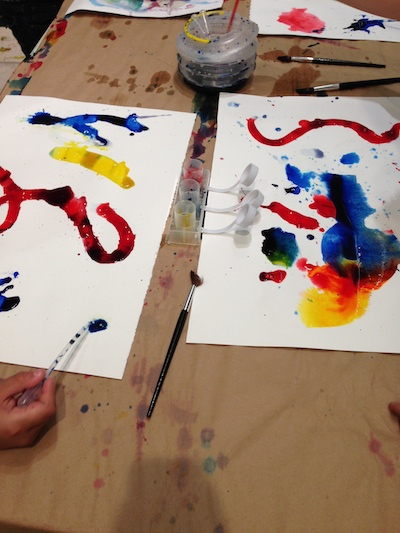 Abstract painting using primary colors. Photo by Valentina Mogilevskaya