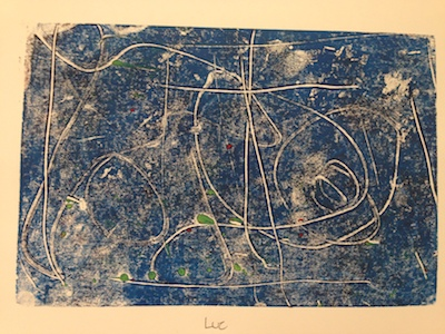 Monoprint made by third-grade student. Photo by Valentina Mogilevskaya