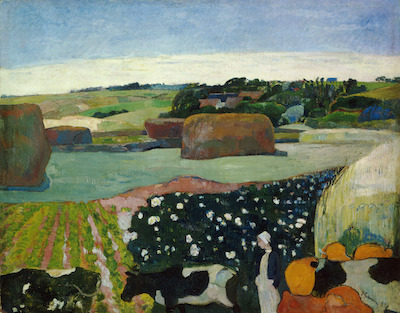Paul Gauguin, Haystacks in Brittany (Les Meules / Le champ de pommes de terre), 1890, National Gallery of Art, Washington, D.C., gift of the W. Averell Harriman Foundation in memory of Marie N. Harriman, 1972.9.11, image courtesy National Gallery of Art, Washington, D.C.