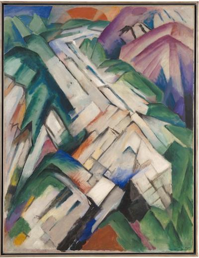 Franz Marc, Stony Path (Mountains/Landscape) Steiniger Weg (Gebirge/Landschaft), 1911 (repainted 1912), San Francisco Museum of Modern Art, gift of the Women's Board and Friends of the Museum, photo © San Francisco Museum of Modern Art