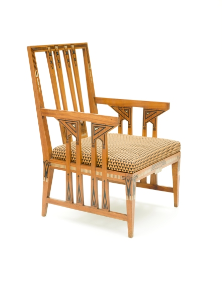 Paul Auscher, Armchair, c. 1911, gift of Debbie and Mark Attanasio through the 2014 Decorative Arts and Design Acquisition Committee (DA2)