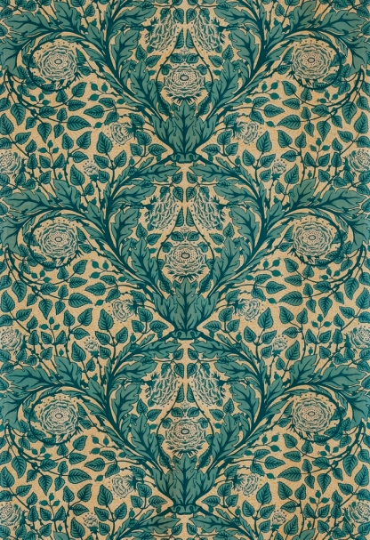 Arthur Heygate Mackmurdo, Textile length, c. 1882, manufactured by Simpson & Godlee, Manchester, for the Century Guild, London, gift of Heidi Wettenhall and Said Saffari through the 2014 Decorative Arts and Design Acquisition Committee (DA2)