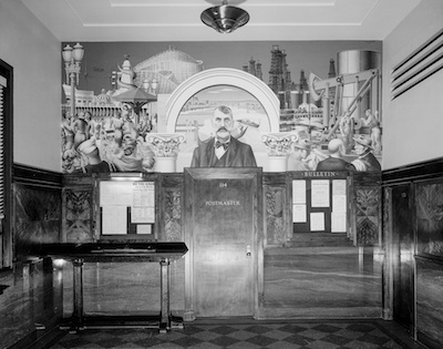 Credit line: View of Edward Biberman's Venice Post Office Mural (completed), n.d., National Archives, Washington DC​