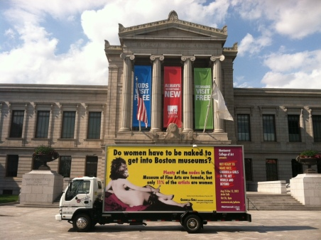 The Guerilla Girls, 2012, [link] Source: http://www.guerrillagirls.com/posters/BostonNaked.shtml