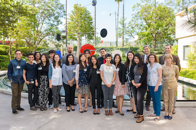 Group photo of the Andrew W. Mellon Summer Academy in the Director's Roundtable Garden at the Los Angeles County Museum of Art. Photo © Museum Associates/ LACMA