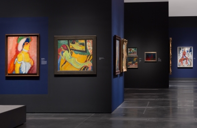Installation view, Expressionism in Germany and France: From Van Gogh to Kandinsky, June 8–September 14, 2014, Los Angeles County Museum of Art, photo © 2014 Museum Associates/LACMA
