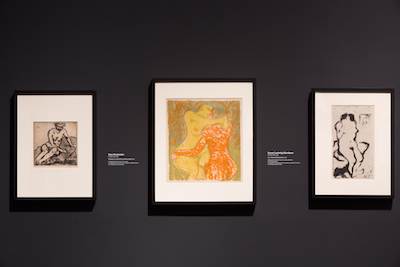 Installation view of Expressionism in Germany and France: From Van Gogh to Kandinsky at the Los Angeles County Museum of Art (June 8–September 14, 2014), photo © Museum Associates/ LACMA