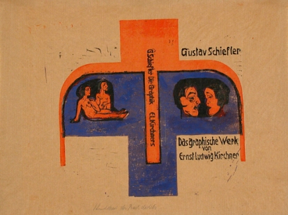 Ernst Ludwig Kirchner, Cover of Gustav Schiefler, The Graphic Work of Ernst Ludwig Kirchner to 1924: Volume 1, to 1916 (Das graphische Werk von Ernst Ludwig Kirchner bis 1924: Band I, bis 1916), 1924–26, Los Angeles County Museum of Art, the Robert Gore Rifkind Center for German Expressionist Studies, purchased with funds provided by Anna Bing Arnold, Museum Associates Acquisition Fund, and deaccession funds, © Ernst Ludwig Kirchner, Courtesy Ingeborg & Dr. Wolfgang Henze-Ketterer, Wichtrach/Bern