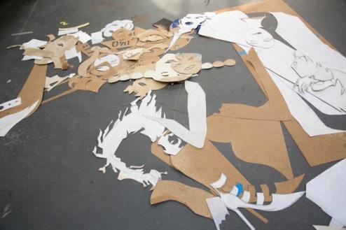 Photo Caption: Floor of the studio shared by Lara, Matthew, and Tingri