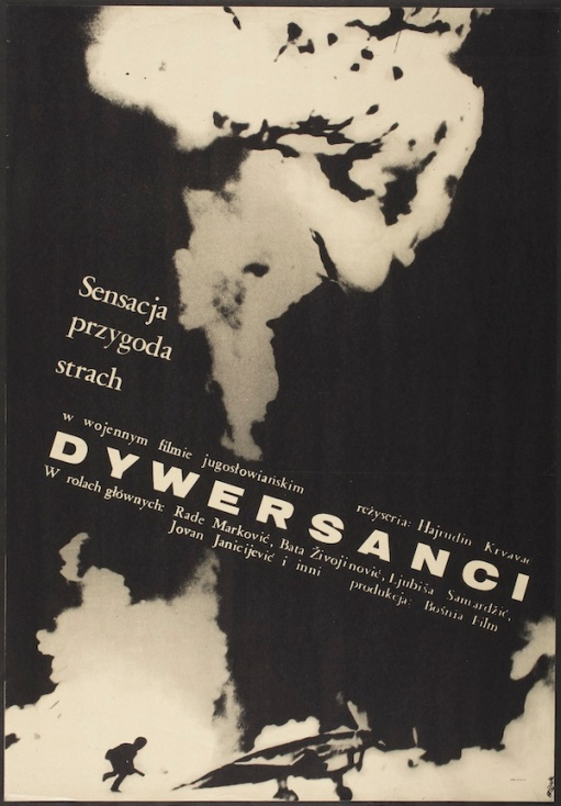 Jerzy Flisak, poster for Dywerskanci film, 1968, Los Angeles County Museum of Art, Marc Treib Collection