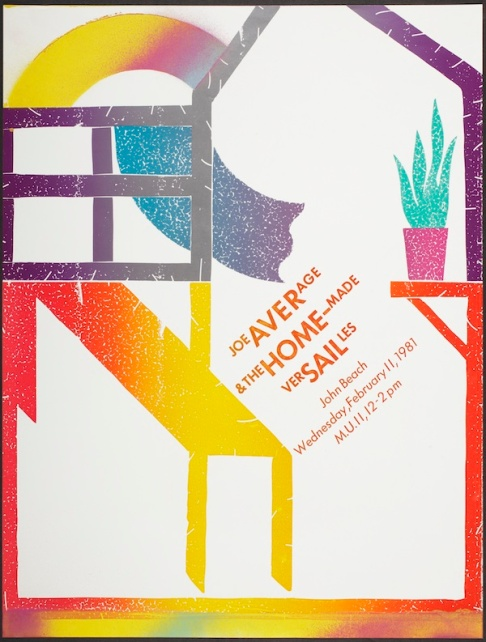 Frances Butler, poster for Joe Average & the Home-made Versailles lecture, Los Angeles County Museum of Art, Marc Treib Collection