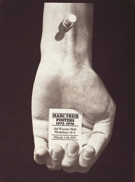 Marc Treib, exhibition poster for Marc Treib Posters 1972–1976, 1977, Los Angeles County Museum of Art, Marc Treib Collection